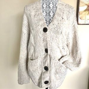 Anthropologie Suss Oversized Chunky Sweater